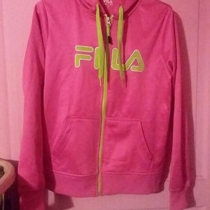 Women's Fila zip up hoodie